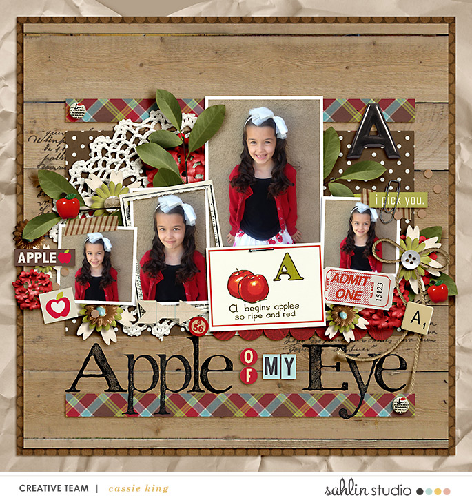digital scrapbooking layout created by cassie featuring Apple Orchard by Sahlin Studio