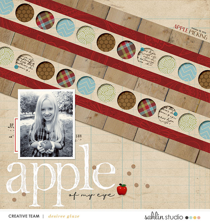 digital scrapbooking layout created by glazefamily3 featuring Apple Orchard by Sahlin Studio