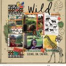Disney Wild Animal Kingdom digital scrapbook layout using Project Mouse (Animal) | Artsy & Pins by Britt-ish Designs and Sahlin Studio