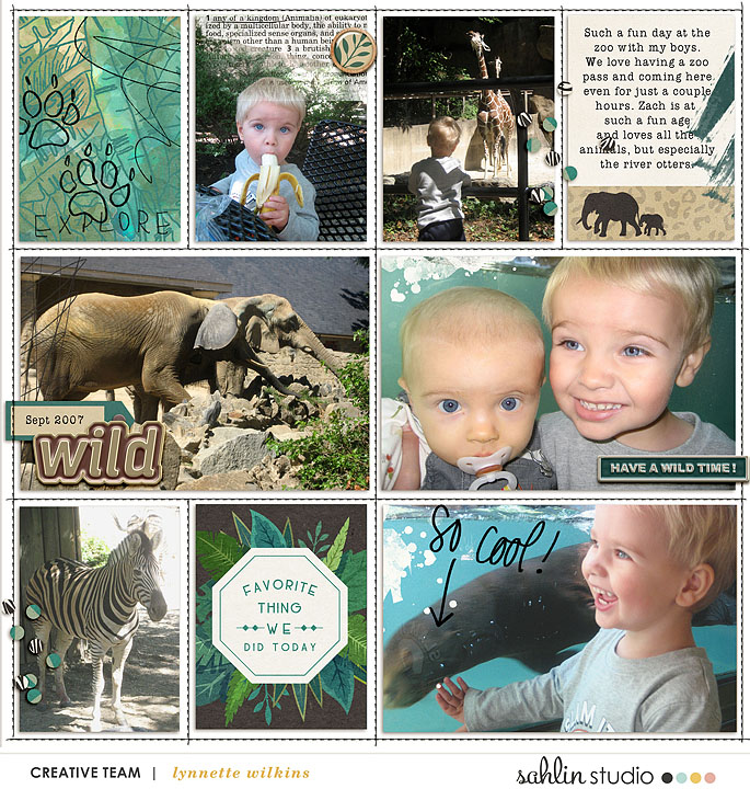 Have a Wild Time Zoo digital scrapbook layout using Project Mouse (Animal) | Artsy & Pins by Britt-ish Designs and Sahlin Studio