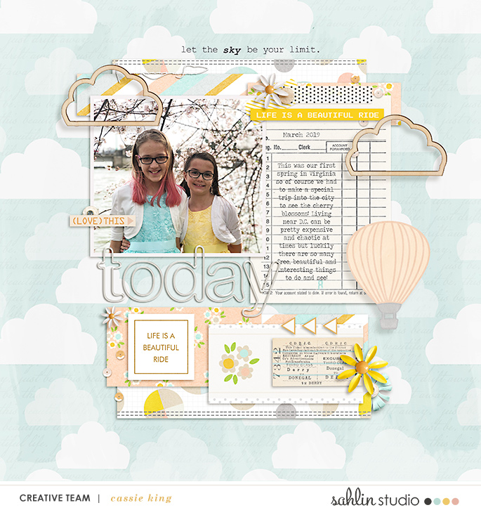 digital scrapbooking layout created by cassie king featuring September 2019 FREE Template by Sahlin Studio