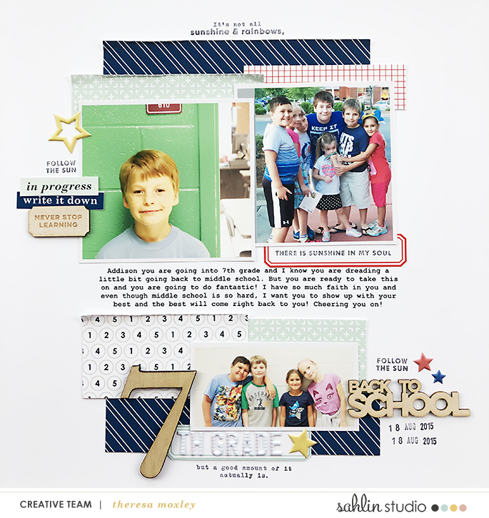 hybrid scrapbooking layout created by theresa moxley featuring September 2019 FREE Template by Sahlin Studio