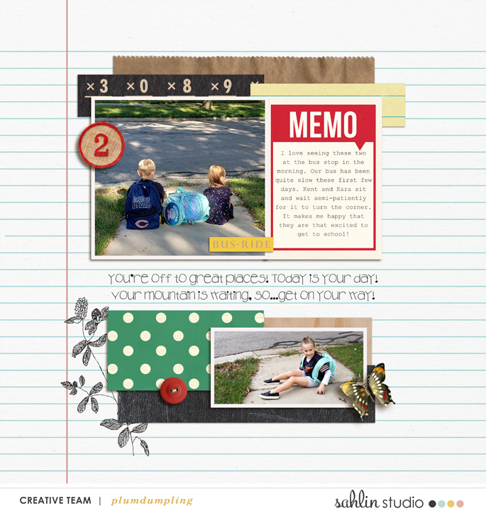 digital scrapbooking layout created by plumdumpling featuring September 2019 FREE Template by Sahlin Studio