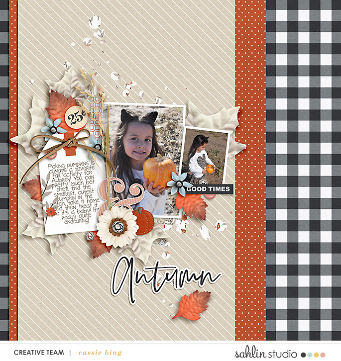 digital scrapbooking layout created by cassie king featuring Gather by Sahlin Studio
