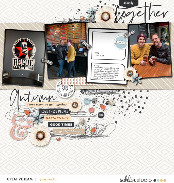 digital scrapbooking layout created by fonnetta featuring Gather by Sahlin Studio