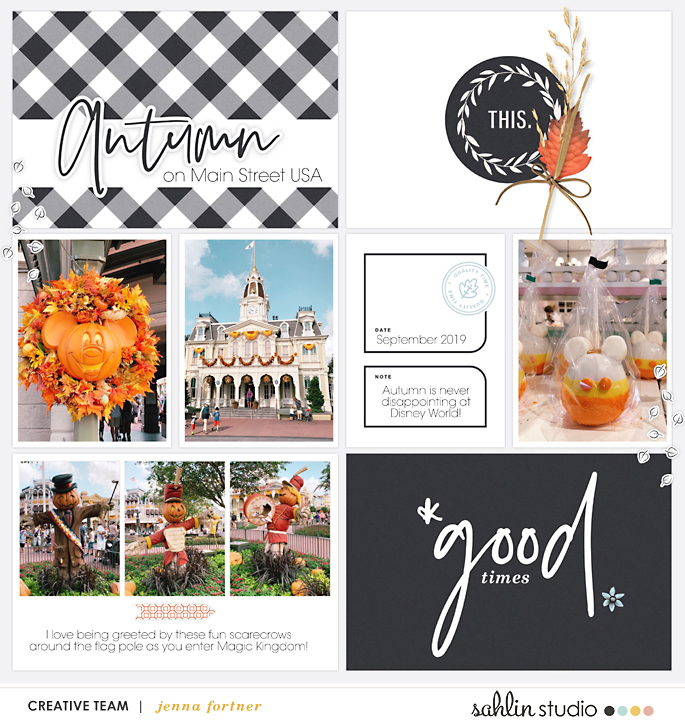 digital scrapbooking layout created by jenna featuring Gather by Sahlin Studio