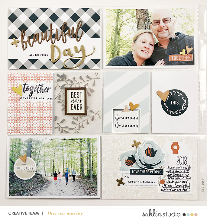 hybrid scrapbooking layout created by Theresa Moxley featuring Gather by Sahlin Studio