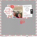 Let's Go! digital scrapbook page layout using On Our Way - a travel collection by Sahlin Studio