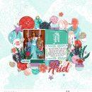 Meeting Disney Princess Ariel Little Mermaid digital scrapbook page layout using Project Mouse (Princess) Ariel | Kit & Journal Cards by Britt-ish Designs and Sahlin Studio