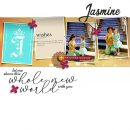 Meeting Disney Princess Jasmine digital scrapbook page layout using Project Mouse (Princess) Jasmine | Kit & Journal Cards by Britt-ish Designs and Sahlin Studio