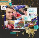 Disney Magic Carpet ride digital scrapbook page layout using Project Mouse (Princess) Jasmine | Kit & Journal Cards by Britt-ish Designs and Sahlin Studio