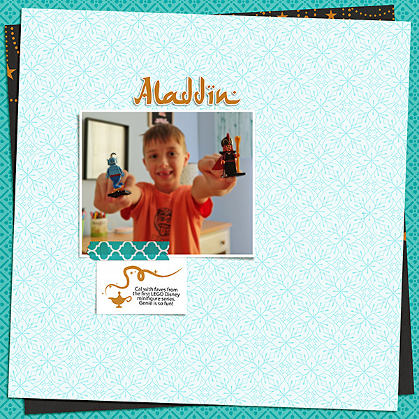 Disney Aladdin toys digital scrapbook page layout using Project Mouse (Princess) Jasmine | Kit & Journal Cards by Britt-ish Designs and Sahlin Studio