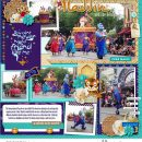 Disney Parade Aladdin Princess Jasmine + Genie digital scrapbook page layout using Project Mouse (Princess) Jasmine | Kit & Journal Cards by Britt-ish Designs and Sahlin Studio