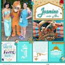 Meeting Disney Princess Jasmine + Abu digital Project Life scrapbook layout using Project Mouse (Princess) Jasmine | Kit & Journal Cards by Britt-ish Designs and Sahlin Studio