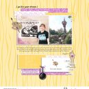 Tangled Disney Princess Rapunzel - Go Live Your Dreams digital scrapbook page layout using Project Mouse (Princess) Rapunzel | Kit & Journal Cards by Britt-ish Designs and Sahlin Studio
