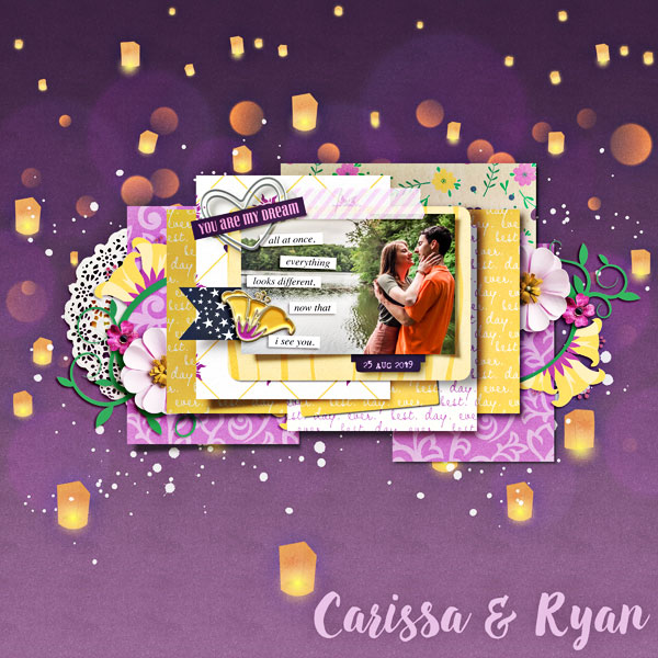 You are my Dream digital scrapbook page layout using Project Mouse (Princess) Rapunzel | Kit & Journal Cards by Britt-ish Designs and Sahlin Studio