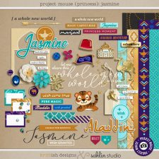 Project Mouse (Princess) Jasmine | Kit by Britt-ish Designs and Sahlin Studio - Perfect for documenting Disney Jasmine or other magical moments in your Project Life / Project Mouse album!!