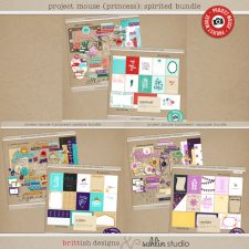 Project Mouse (Princess) Spirited Journal Cards and Kits by Britt-ish Designs and Sahlin Studio - Perfect for documenting Disney princesses, Ariel, Jasmine, Rapunzel or other magical moments in your Project Life / Project Mouse album!!