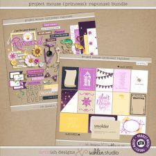 Project Mouse (Princess) Rapunzel | BUNDLE by Britt-ish Designs and Sahlin Studio - Perfect for documenting Disney Tangled Rapunzel or other magical moments in your Project Life / Project Mouse album!!