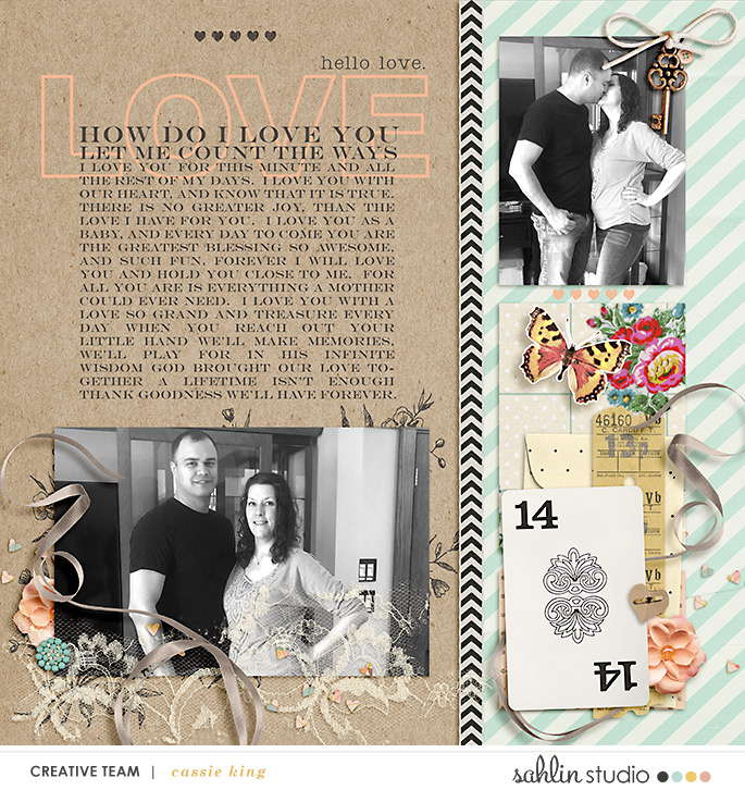 digital scrapbooking layout created by cassie king featuring November 2019 FREE Template by Sahlin Studio