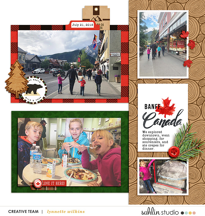digital scrapbooking layout created by lynnette featuring November 2019 FREE Template by Sahlin Studio