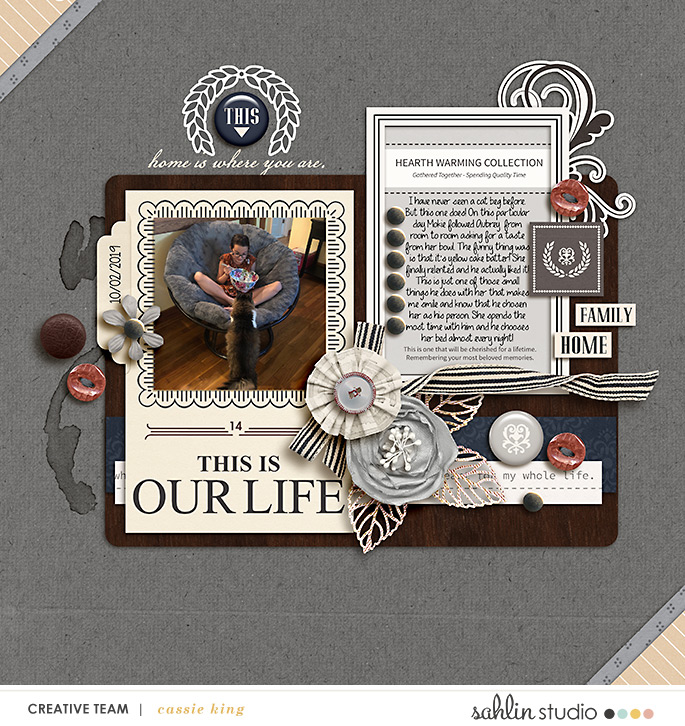 digital scrapbooking layout created by cassie king featuring Sahlin Studio Templates and Quickpages