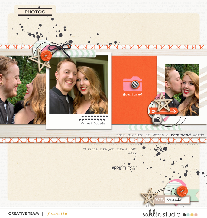 digital scrapbooking layout created by fonnetta featuring Sahlin Studio Templates and Quickpages