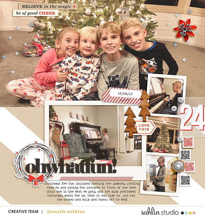 digital scrapbooking created by lynnette featuring December 2019 FREE Template by Sahlin Studio