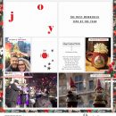JOY Making Merry digital Project Life scrapbook page using Holly Days by Sahlin Studio