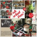Merry Oh What Fun digital scrapbook page using Holly Days by Sahlin Studio
