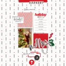 Holiday Details Merry December digital scrapbook page using Holly Days by Sahlin Studio