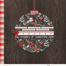 The Story of Christmas December Daily Album Cover digital scrapbook page using Holly Days by Sahlin Studio