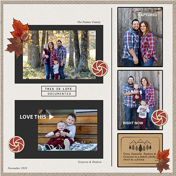 digital scrapbooking layout created by flowersgal featuring November 2019 FREE Template by Sahlin Studio