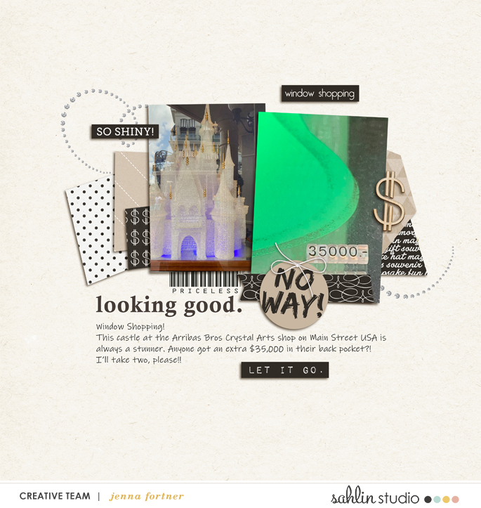 digital scrapbooking layout created by jenna featuring January 2020 Free Template by Sahlin Studio