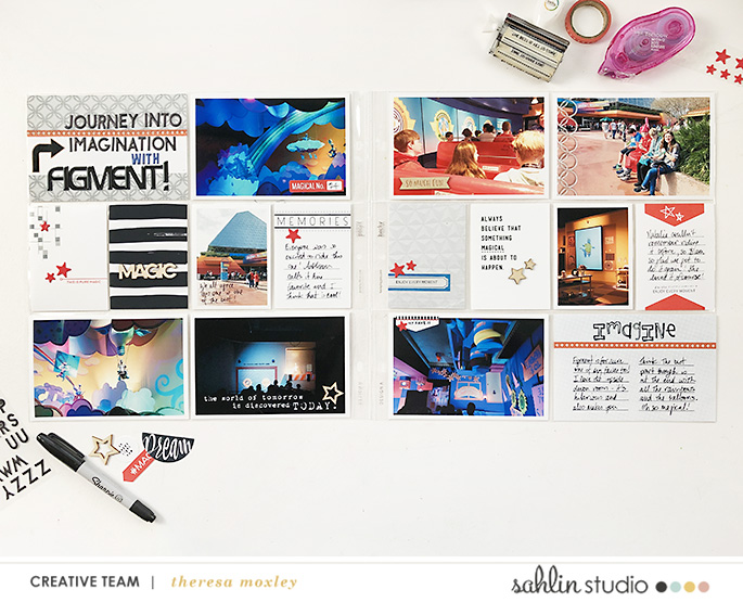 hybrid digital scrapbooking layout created by larkindesign featuring Innovation by Sahlin Studio