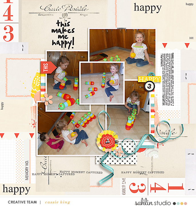 digital scrapbooking layout created by cassie king featuring March 2020 FREE Template by Sahlin Studio