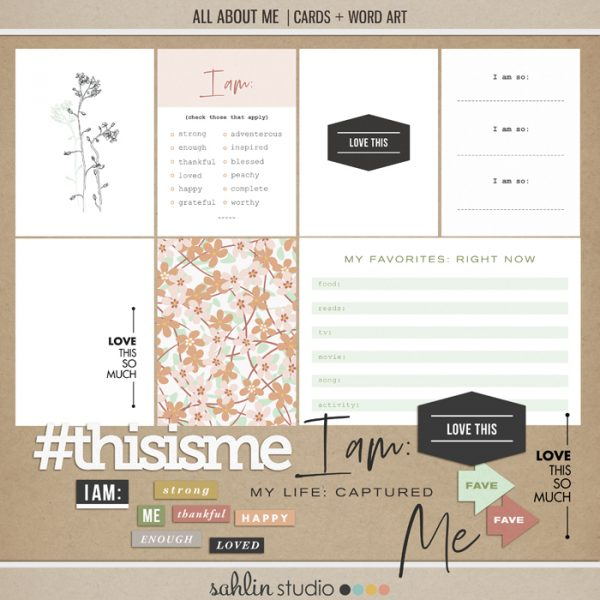 All About Me (Cards and Word Art) by Sahlin Studio