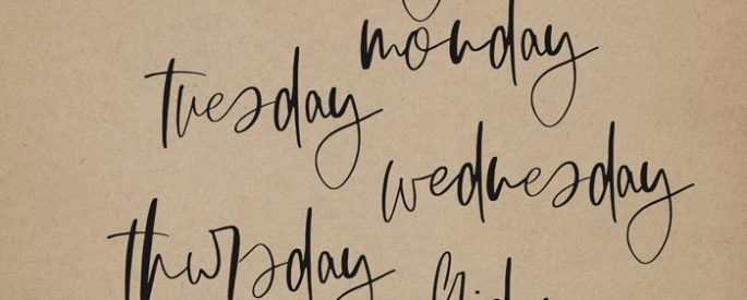 Days of the Week (Word Art) by Sahlin Studio