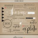 Exploring (Word Art) by Sahlin Studio - Perfect for all of your travels in your Smash Books, Project Life album or digital scrapbooking!!