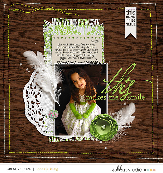 digital scrapbooking layout created by cassie king featuring May 2020 FREE Template by Sahlin Studio