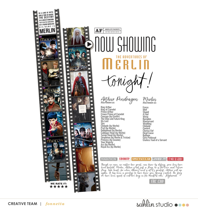 digital scrapbooking layout created by fonnetta featuring Project Mouse (Movies) by Sahlin Studio and Britt-ish Designs
