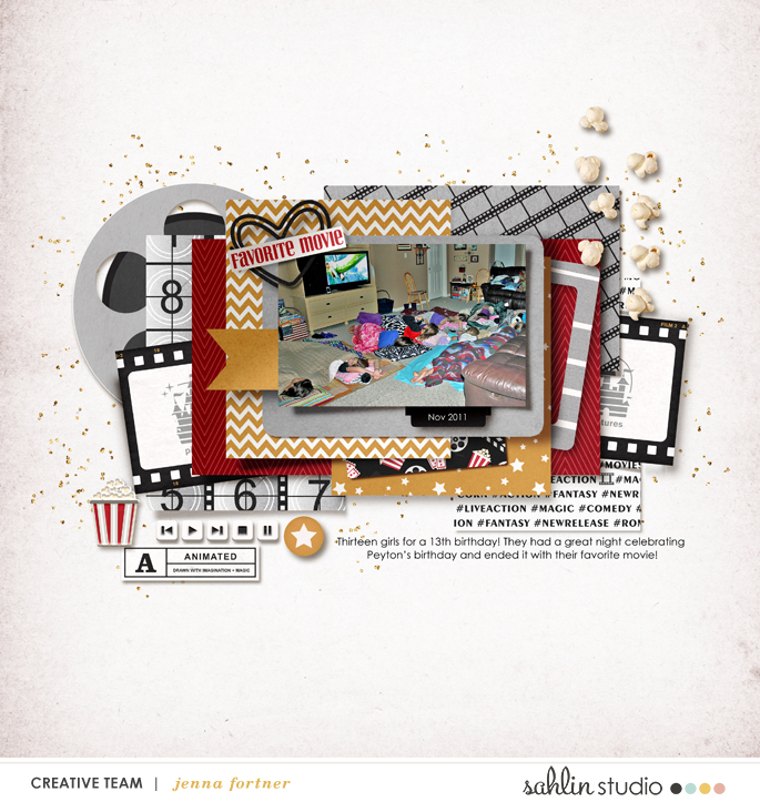 digital scrapbooking layout created by jenna featuring Project Mouse (Movies) by Sahlin Studio and Britt-ish Designs