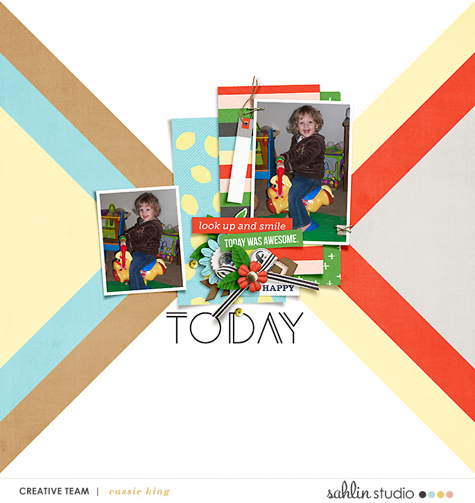 digital scrapbooking layout created by cassie king featuring Highs and Lows by Sahlin Studio