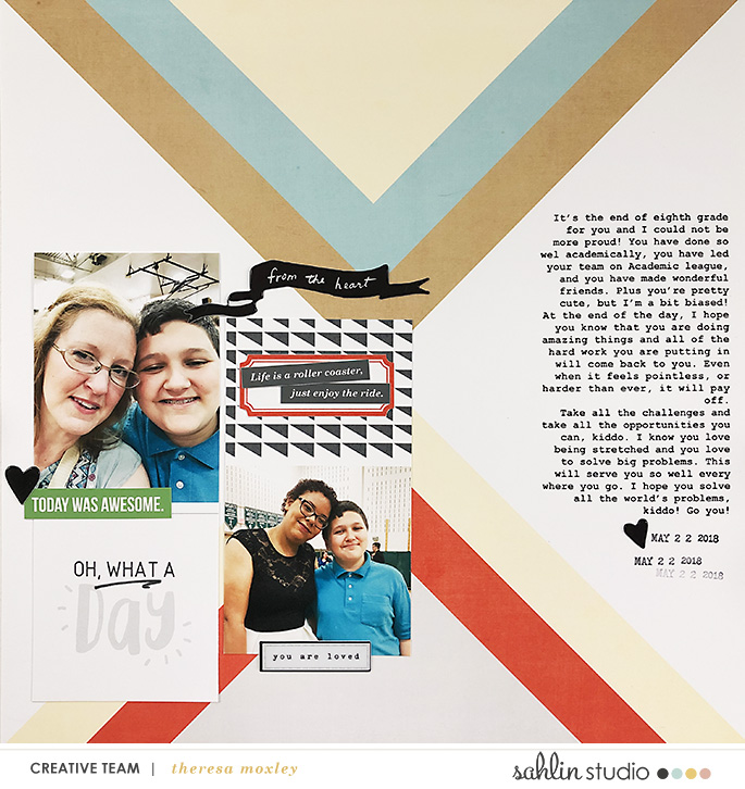 hybrid digital scrapbooking layout created by theresa moxley featuring Highs and Lows by Sahlin Studio