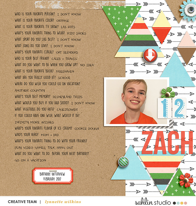 digital scrapbooking layout created by lynnette featuring Highs and Lows by Sahlin Studio