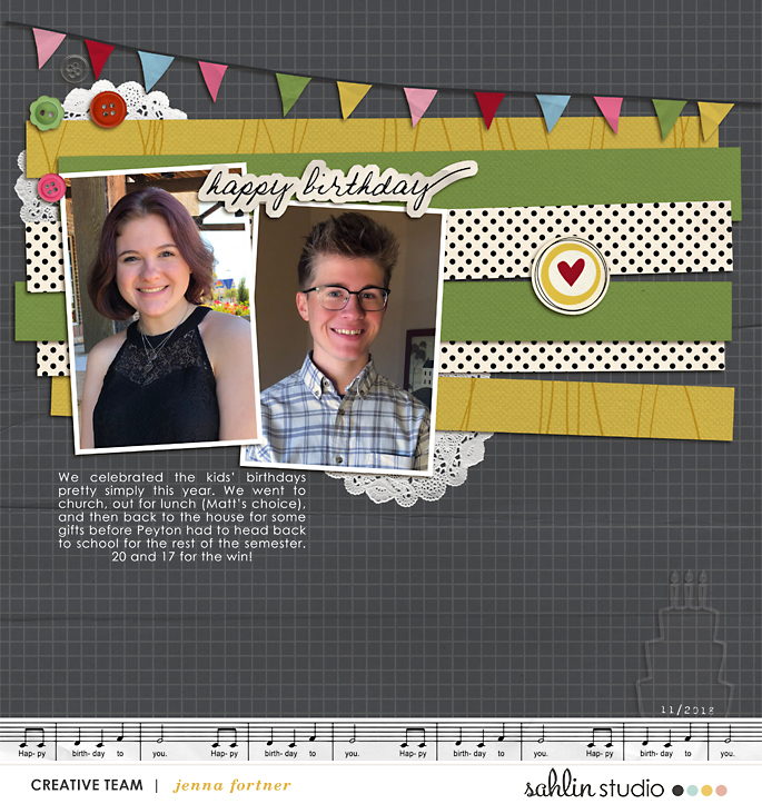 digital scrapbooking layout created by jenna featuring Make a Wish by Sahlin Studio and Valorie Wibbens