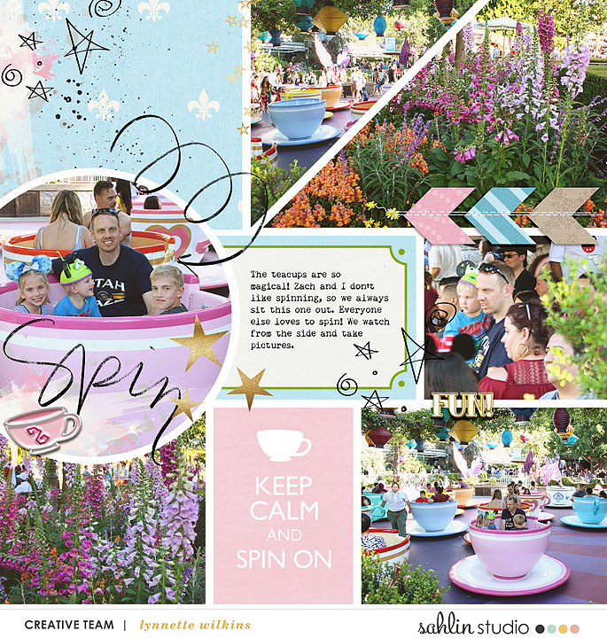 digital scrapbooking layout created by lynnette featuring July 2020 FREE Template by Sahlin Studio