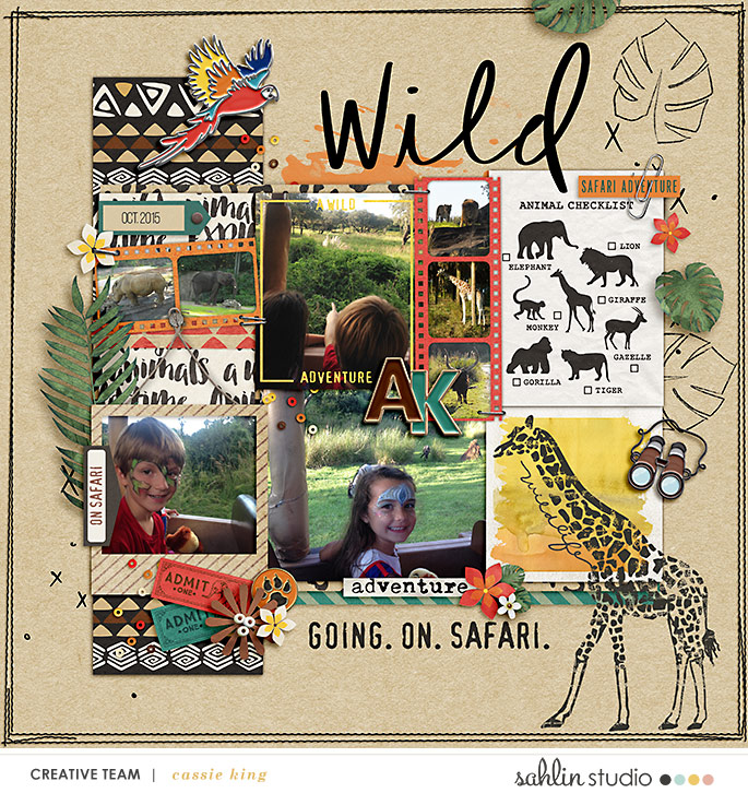 digital scrapbooking layout created by cassie king featuring Project Mouse (Animal) by Britt-ish Designs and Sahlin Studio