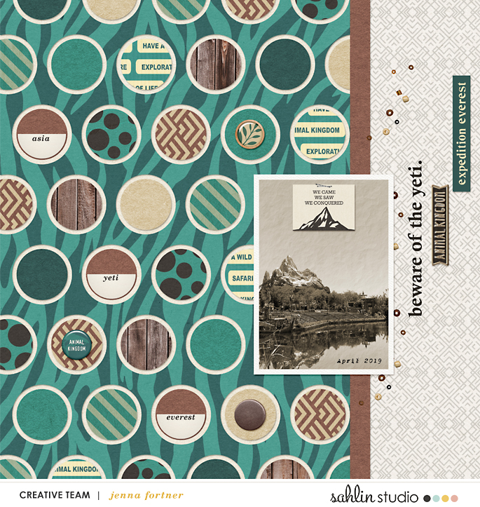 digital scrapbooking layout created by jenna featuring Project Mouse (Animal) by Britt-ish Designs and Sahlin Studio