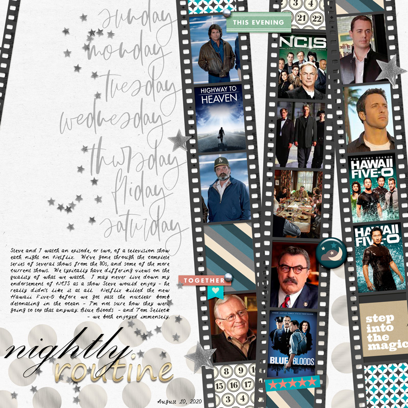 digital scrapbooking layout created by Mingo08 featuring August 2020 FREE Template by Sahlin Studio